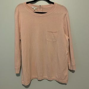 Women's plus size solid pink pullover sweater